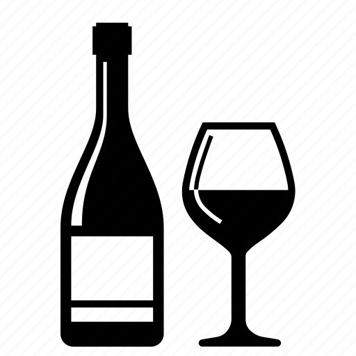 alcohol, beverage, bottle, drink, glass, party, wine icon