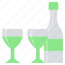 alcohol, beer, bottle, cocktail, drink, glass, wine icon