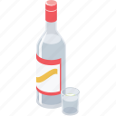 alcohol, bottle, drink, glass, vodka