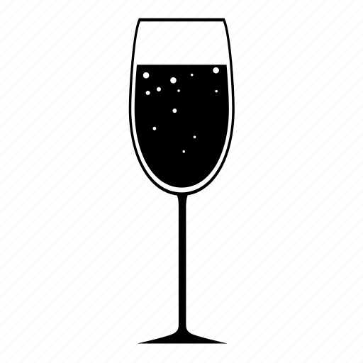 bubbly, champagne, flute, new year's eve, nye, toast, wedding icon