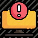 pc, alert, circle, warning, caution, notification icon