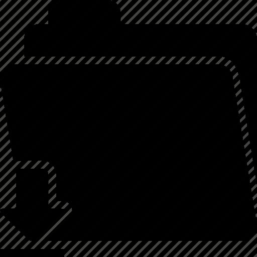 arrow, documents, down, download, downloads, file, folder icon