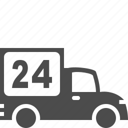 hour delivery, shipping, transport, truck, vehicle icon