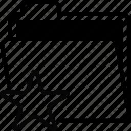 documents, favorite, file, folder, mark icon
