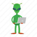 alien, cartoon, creature, et, universe icon