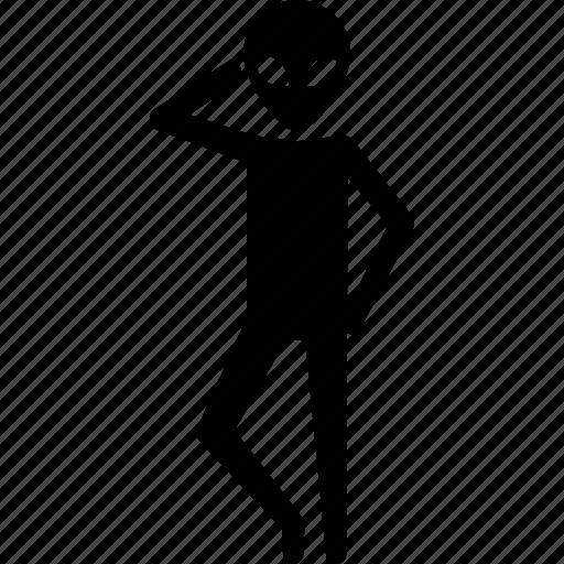 alien, model, pose, posing, ufo icon