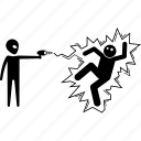alien, attack, gun, human, invader, laser, ufo icon