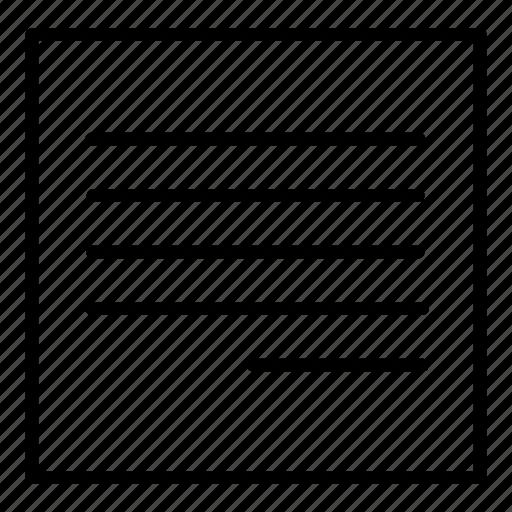 align, alignment, design, text align icon