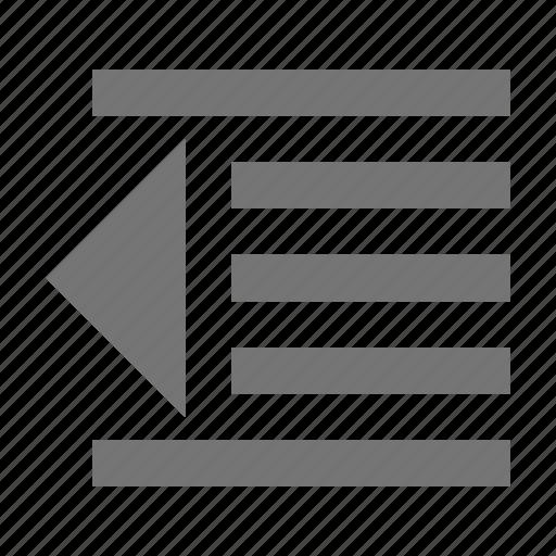 decrease indent, indent icon