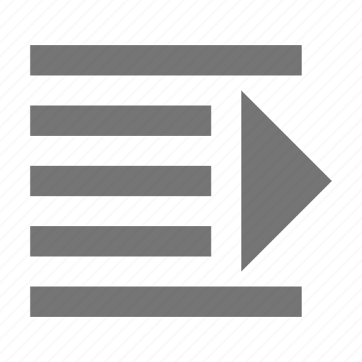 alignment, direction, increase, indent, paragraph, text, tool icon