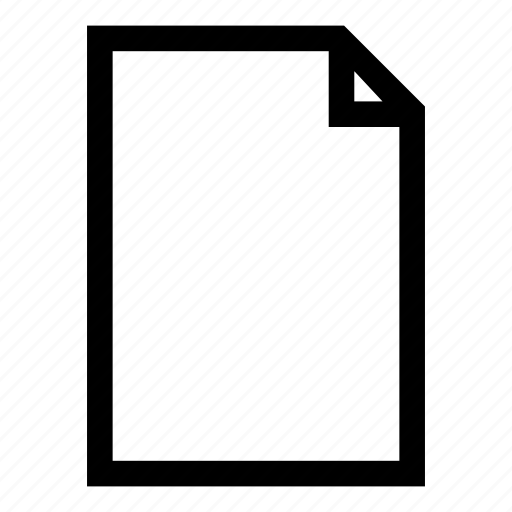 blank, empty, paper, sheet, template icon
