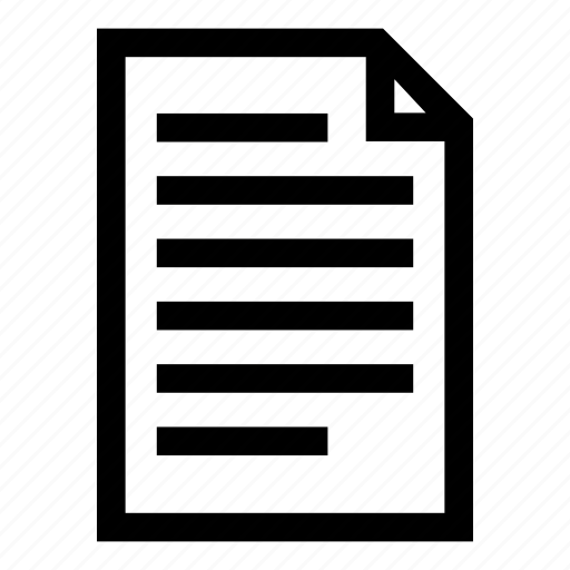 alignment, left align, paper, paragraph, template icon