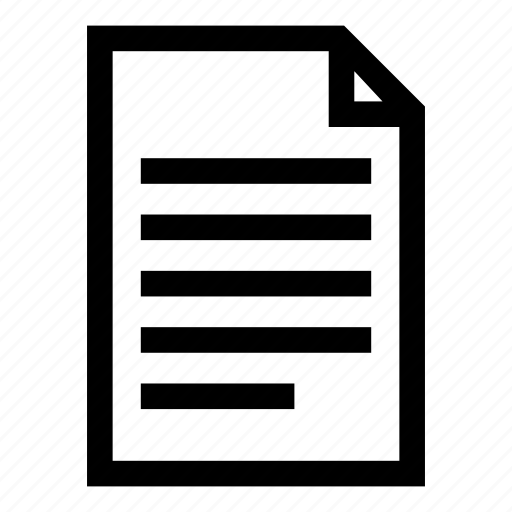 alignment, left align, paper, template, text icon