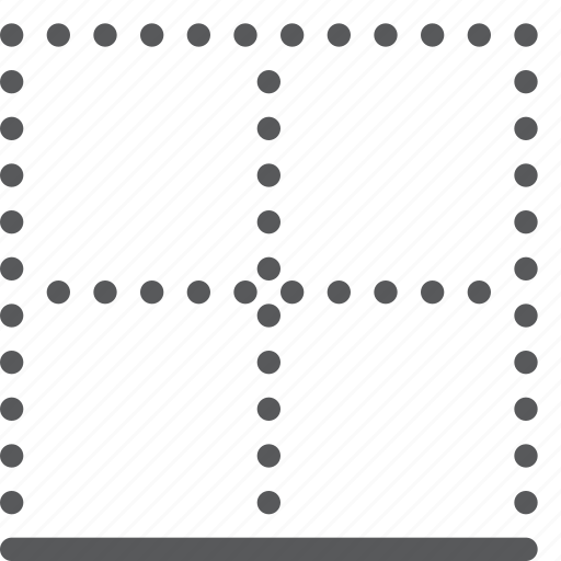 alignment, border, bottom, design, grid, interface, layout, model icon