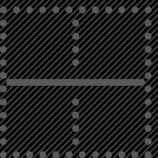 alignment, border, custom, horizontal, inside, line, settings, text icon