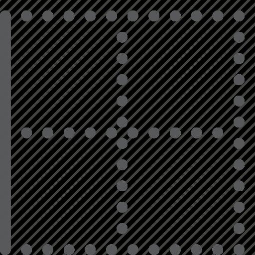 alignment, border, custom, left, line, script, settings, text icon