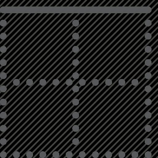 alignment, border, custom, line, script, settings, text, top icon