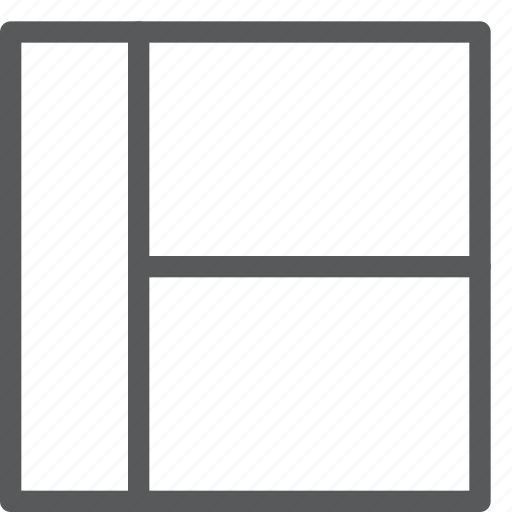 alignment, design, grid, interface, layout, left, model icon