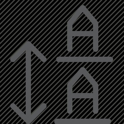 alignment, arrow, line, measure, script, settings, spacing, text icon