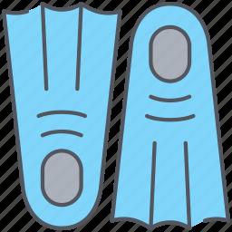 diving, fin, scuba, underwater icon