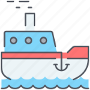 boat, cruise, fish, fishing, sailing, sea, ship icon
