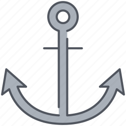 anchor, dock, fix, grappling, hook, iron, sail icon