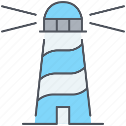 beacon, lighthouse, nautical, navigation, observation, orientation, watch tower icon