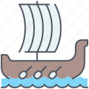 boat, cruise, roman, sailing, sea, travel, vessel icon