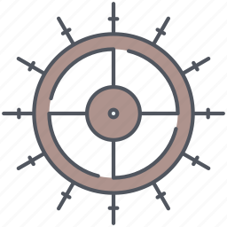 marine, nautical, navigation, orientation, sailing, steering, wheel icon