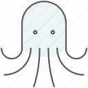 nautical, ocean, octopus, sea, seafood, squid, underwater icon