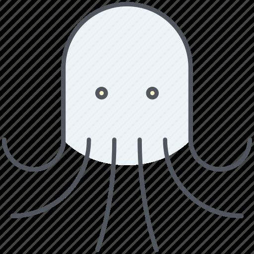 nautical, ocean, octopus, sea, seafood, squid, underwater icon