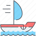 adventure, journey, marine, nautical, sailboat, travel, yawl icon