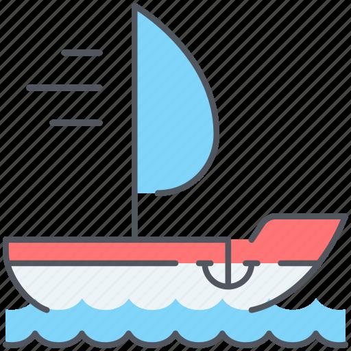 adventure, journey, marine, nautical, sailboat, travel, yawl icon