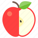 apple, christ, fruit, life icon