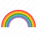 colorful, forecast, rainbow, weather icon