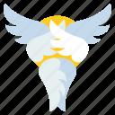 angel, catholic, christian, seraphim icon