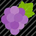food, fruit, grape, leave