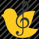 bird, christ, sing, song, worship