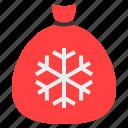 bag, christ, christmas, gift bag, santa bag, xmas icon
