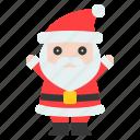 character, christ, cute, santa, santa claus icon