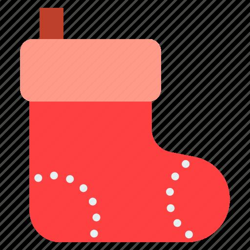 christmas, sock, xmas icon