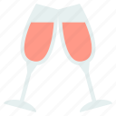 alcohol, champagne, cheers, christmas, party icon