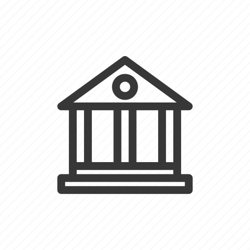 bank, business, finance, legal institutions icon