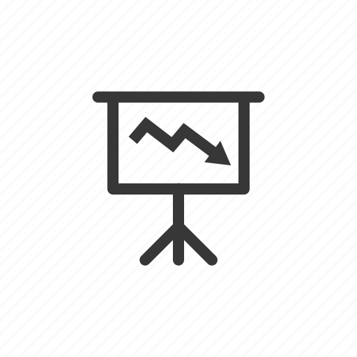 bank, business, currency, down, finance, presentation, screen icon