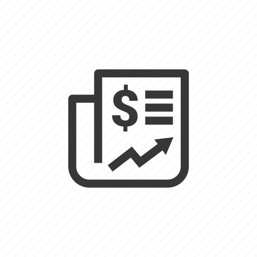 bank, business, currency, dollar, finance, money, news, newspaper icon