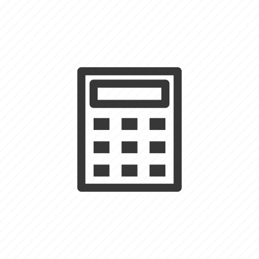 bank, business, calculator, count, finance icon