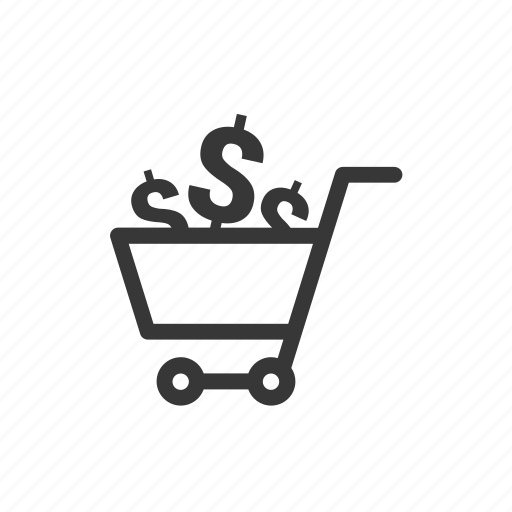 Dollar, money, shopping, cart icon - Download on Iconfinder