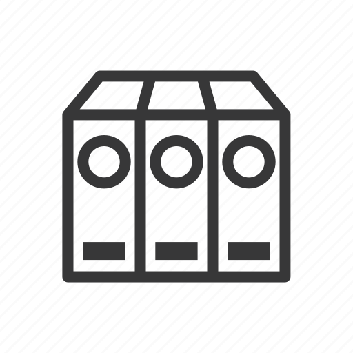 archives, business, document, finance, stationery icon