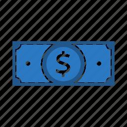 bills, cash, dollar, finance, money icon