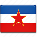 flag, yugoslavia icon